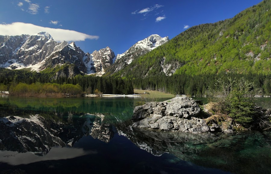 Mangart by Jože Borišek - Landscapes Mountains & Hills ( italia )