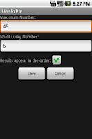 Screenshot of LLuckyDip