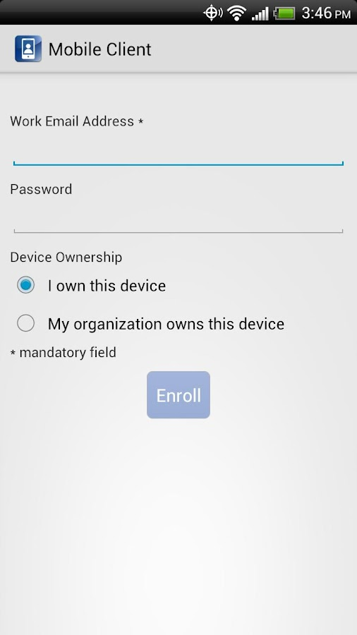 IBM Mobile Client - screenshot