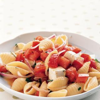 Warm Tomato Pasta Salad
