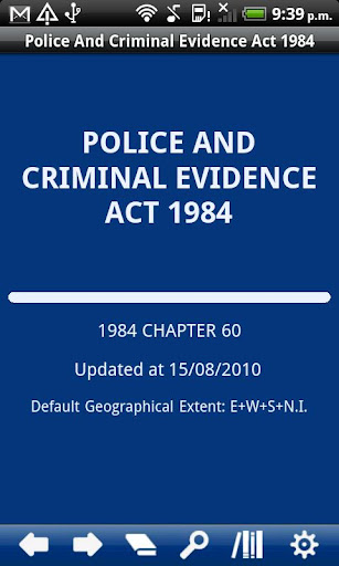Police Criminal Evidence Act