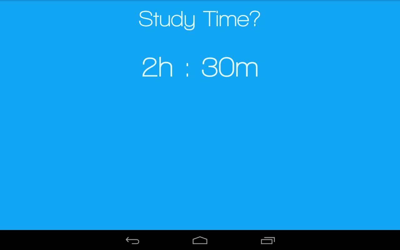Study Time- screenshot