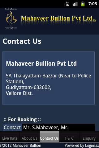 Mahaveer Bullion- screenshot
