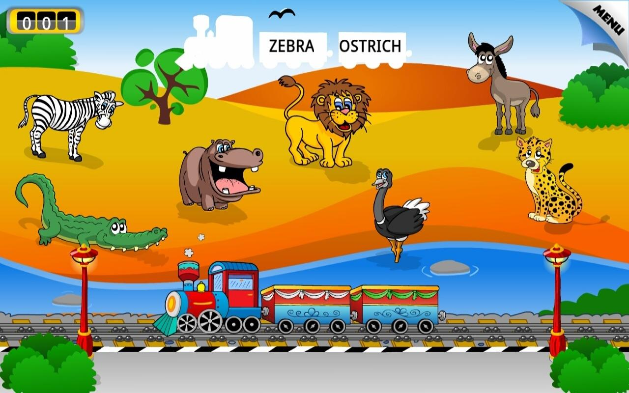 Preschool Learning Games Train- screenshot
