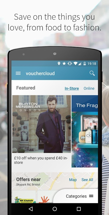 vouchercloud: deals & offers- screenshot