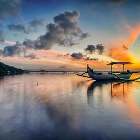 .:: i got the blue ::. by Setyawan B. Prasodjo - Landscapes Cloud Formations ( dawn, red cloud, twilight, sunrise, boat )