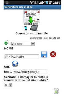Mobile site generator- screenshot thumbnail