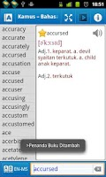 Screenshot of Astrotek Malay Dictionary