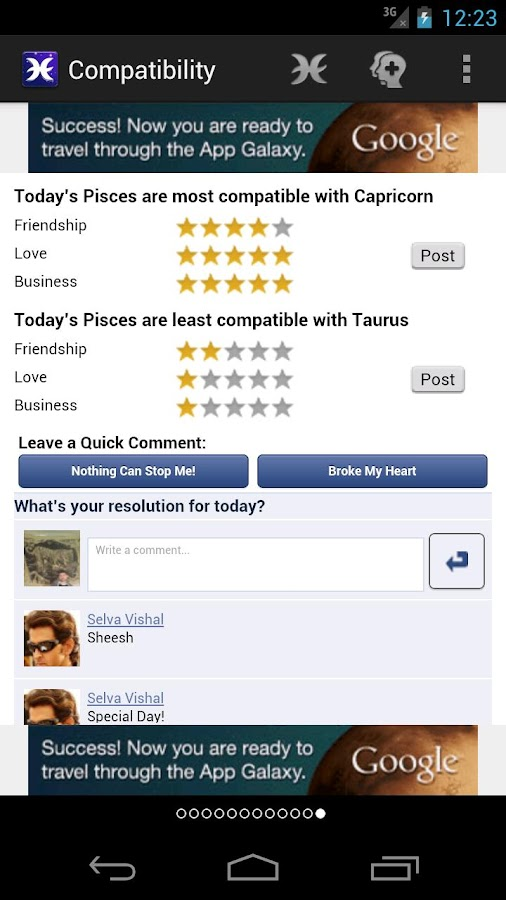 Horoscopes for Facebook - screenshot