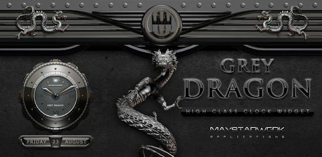 Dragon Clock Widget grey