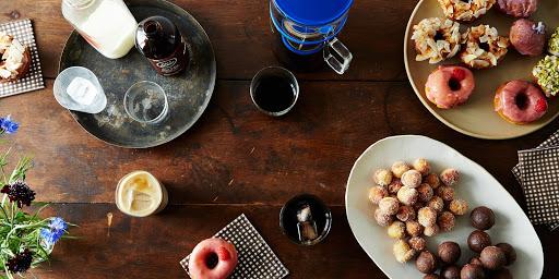 Iced Coffee & Donuts