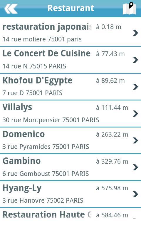 Ouestmap annuaire entreprise - screenshot