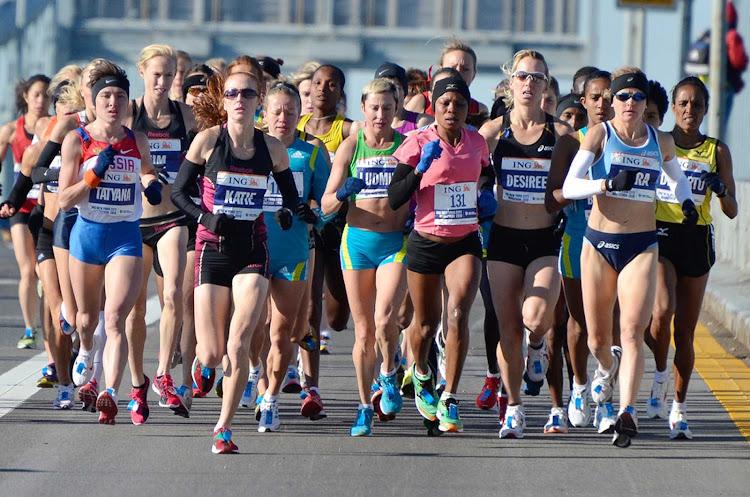 The start of the New York City Women's Marathon in New York.