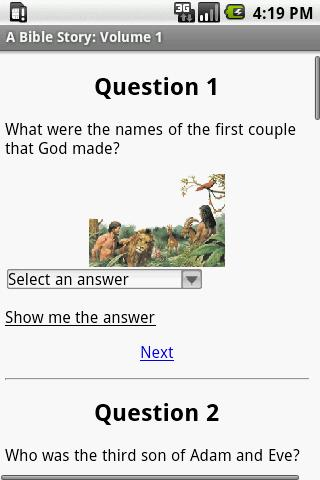 iBible Story: Volume 1 - screenshot