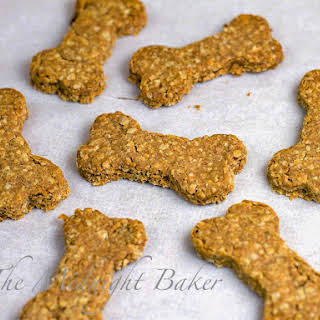 Peanut Butter and Bacon Dog Biscuits.