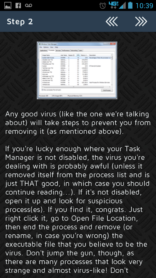 How to Manually Remove a Virus - screenshot
