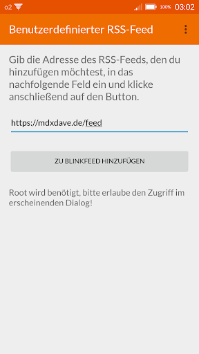 BlinkFeed RSS Manager [ROOT] 1