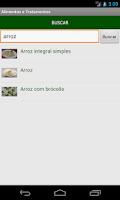 Screenshot of Alimentos e Tratamentos