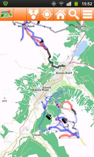 Davos Offline mappa Map