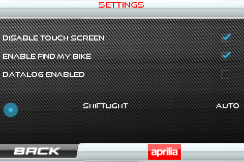 Aprilia Multimedia Platform- screenshot