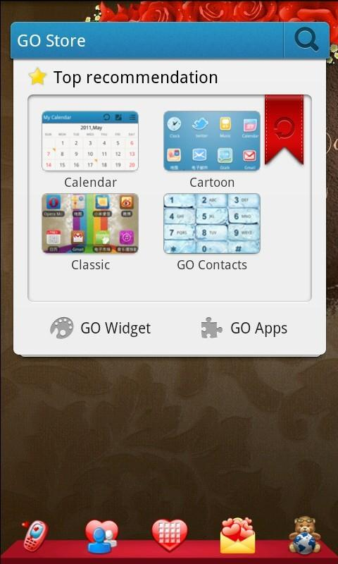 Romantic Theme GO Launcher EX - screenshot