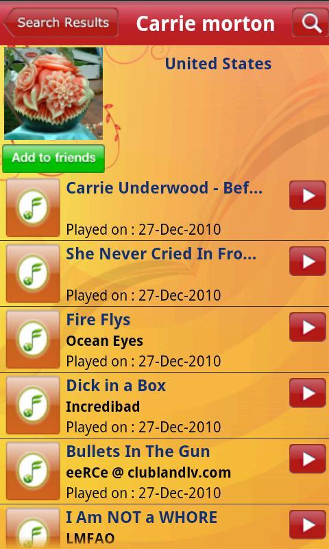 iMusicShare- screenshot