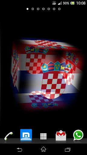 3D Croatia Cube Flag LWP