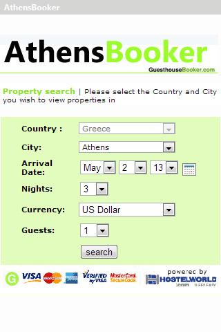 Athens hostel booking