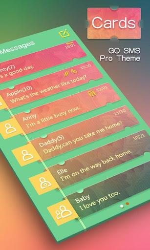 GO SMS PRO CARDS THEME EX