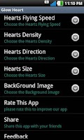 Screenshot of Glow Heart Live Wallpaper