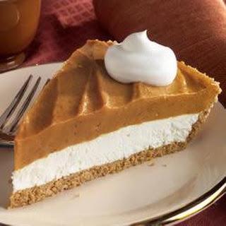 Creamy Two-Layer Pumpkin Pie.