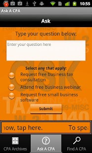 Ask A CPA Tax Answers Free- screenshot thumbnail