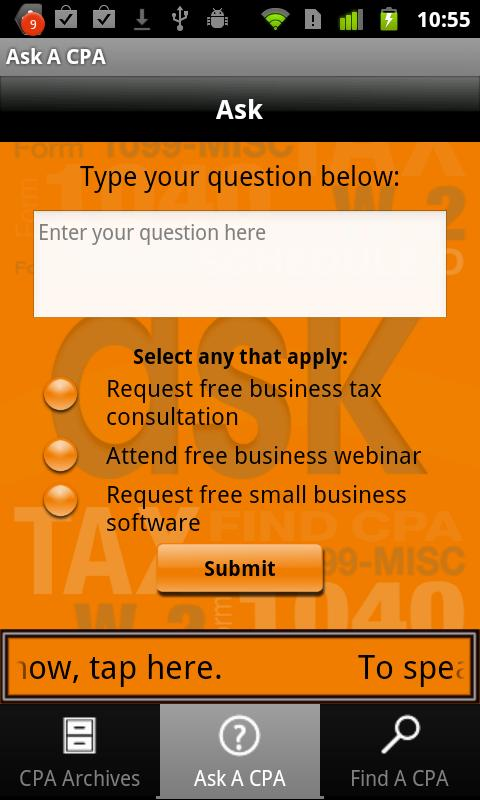 Ask A CPA Tax Answers Free- screenshot