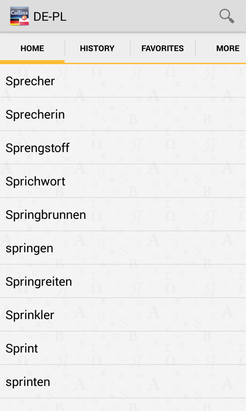 German<>Polish DictionaryT- screenshot
