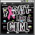 Breast cancer them icon