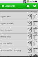 Screenshot of Pequenos Gastos