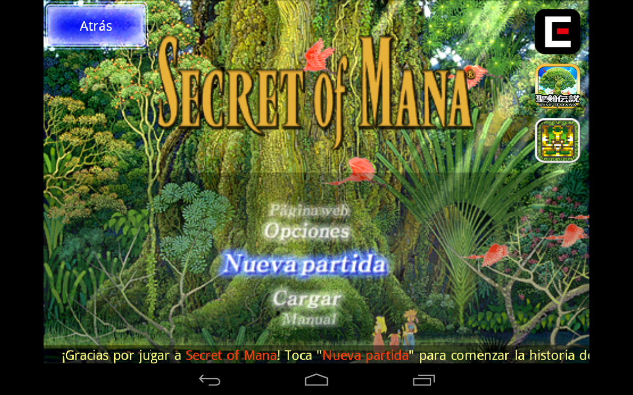 Secret of Mana: captura de pantalla