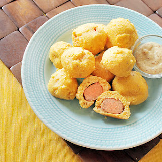Baked Corn Dog Bites
