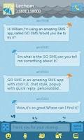 Screenshot of GO SMS Pro Rainy day Theme