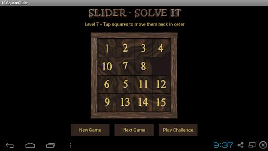 15 Square Slider - náhled