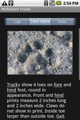 MyNature Animal Tracks - screenshot