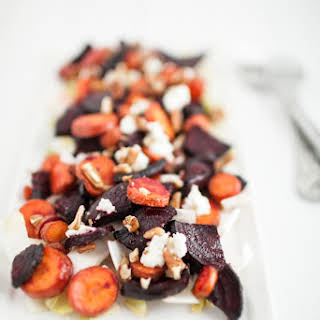 Roasted Beet and Carrot Salad.