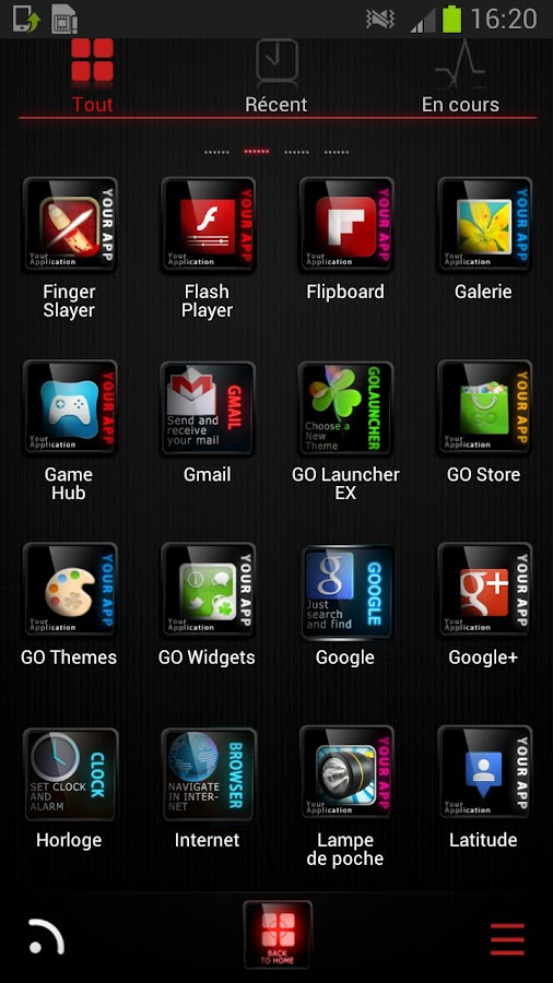 Light HD Theme go launcher ex - screenshot