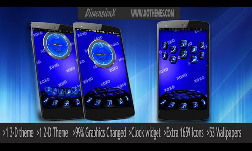 Next Launcher Theme Lips Blue