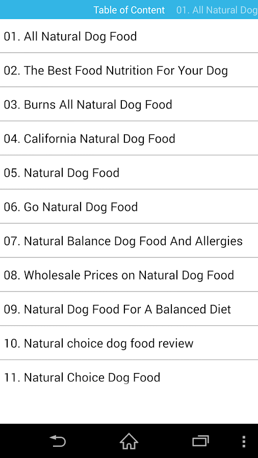 Audiobook - Natural Dog Food- screenshot