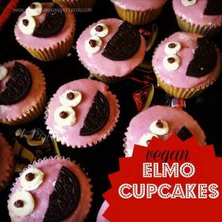 Vegan Elmo Cupcakes