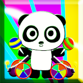 Panda Eating Candy - HD