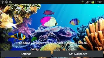 Screenshot of Under water live wallpaper