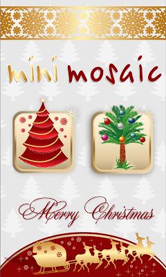 Christmas tree children mosaic - screenshot