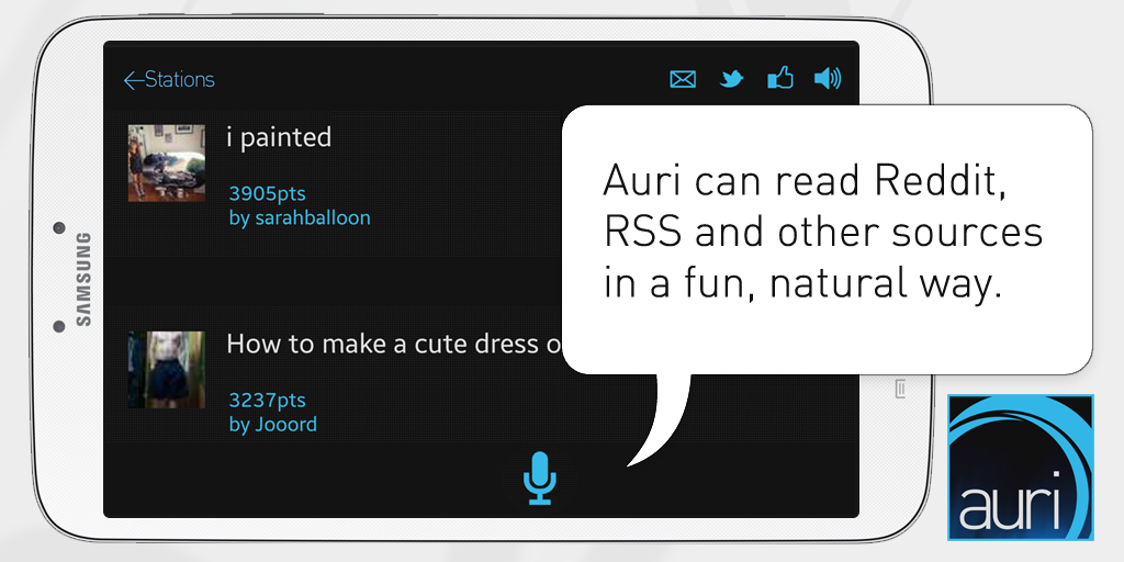 Auri (Voice Reddit and RSS)- screenshot